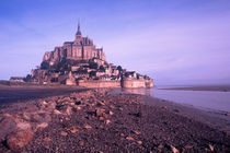 famous Le Mont St. Michel Island Fortress in Normandy France by Danita Delimont