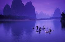 China, Li River.  Cormorant fishermen. von Danita Delimont