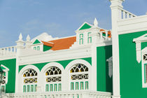 ABC Islands - ARUBA - Oranjestad: Colorful Aruban Government Building by Danita Delimont