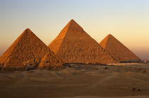 Egypt, Old Kingdom, Pyramids at Giza by Danita Delimont