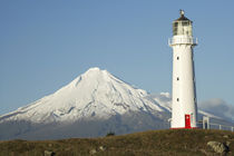 Cape Egmont Lighthouse and Mt Taranaki / Mt Egmont, Taranaki, North Island by Danita Delimont