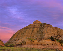Badlands at Twilight in the Little Missouri National Grasslands in North Dakota by Danita Delimont