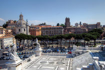 Overview of Piazza Venezia  at Rome by Carla Zagni