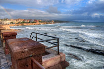 Rainbow over the coast of Alghero by Carla Zagni