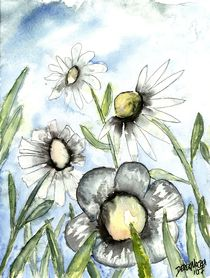 Field-of-white-flowers-daisies-painting