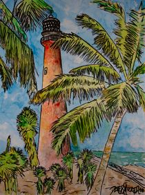 Cape Florida lighthouse by Derek McCrea