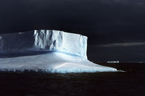 Tabular Iceberg and Storm Clouds by Wolfgang Kaehler