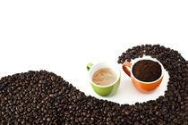 coffee beans, ground coffee and espresso von Carla Zagni