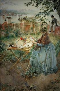 C.Larsson, Die Porzellanmalerin von AKG  Images