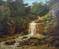 G.Courbet, Landschaft mit Wasserfall by AKG  Images
