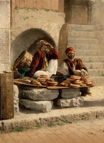 Brotverkaeufer in Jerusalem / Photochrom von AKG  Images