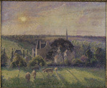 C.Pissarro, Kirche u.Gehoeft in Eragny by AKG  Images