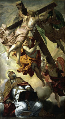 Tintoretto, Petrus erscheint das Kreuz by AKG  Images