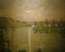 Hans Thoma, Sonnenuntergang am Rhein by AKG  Images