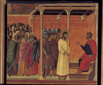 Duccio, Christus vor Pilatus by AKG  Images