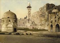 Jerusalem, Burg Antonia / Photochrom von AKG  Images