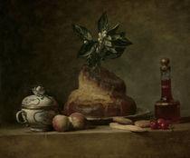 J.B.S.Chardin, Stilleben mit Brioche by AKG  Images