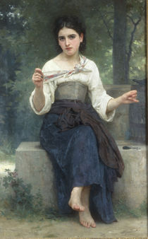 W.A.Bouguereau, Naehendes Maedchen by AKG  Images