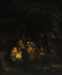 Rembrandt, Anbetung der Hirten von AKG  Images