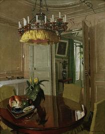 F.Vallotton, Esszimmer mit Blumenstrauss von AKG  Images