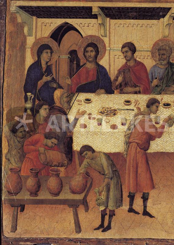 Duccio Hochzeit Zu Kana Bild Als Poster Und Kunstdruck Von Akg