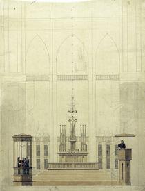 C.D.Friedrich, Altarraum mit Taufkapelle von AKG  Images