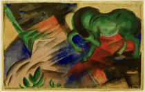 Franz Marc, Gruenes Pferd by AKG  Images
