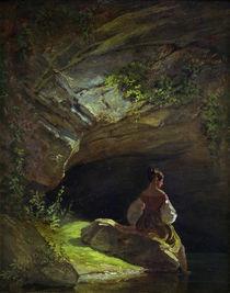 C.Spitzweg, Maedchen vor der Grotte by AKG  Images