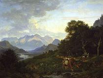 L.Richter, Salzburgische Landschaft/1830 von AKG  Images
