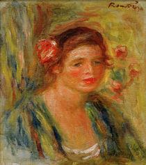 Auguste Renoir / Tete de jeune femme by AKG  Images