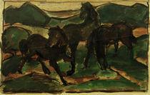F.Marc, Pferde auf der Weide I by AKG  Images