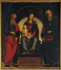 Perugino, Maria mit Kind u.Heiligen by AKG  Images