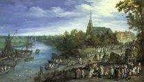 J.Brueghel d.Ae., Dorfmarkt in Schelle by AKG  Images