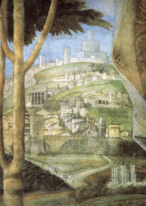 A.Mantegna, Cam.d.Sposi, Stadtansicht by AKG  Images