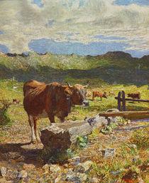 G.Segantini, Braune Kuh an der Traenke von AKG  Images