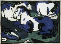 Franz Marc, Ruhende Pferde/1911-12 von AKG  Images