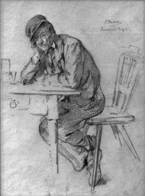 L.Knaus, Schwarzwaldbauer am Tisch by AKG  Images