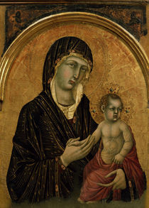 Simone Martini, Maria mit Kind by AKG  Images