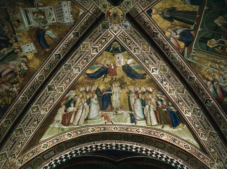 Giotto, Allegorie der Armut Bild als Poster und