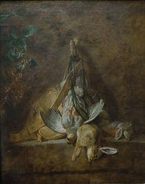J.B.S.Chardin, Zwei Kaninchen, Feldhuhn von AKG  Images