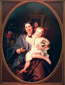 F.G.Waldmueller, Unbekannte Dame mit Kind von AKG  Images