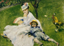 A.Renoir/ Madame Monet mit Sohn Jean by AKG  Images