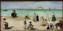 E.Manet, Am Strand von Boulogne sur Mer by AKG  Images