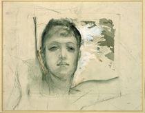 Max Klinger, Frauenkopf/ Studie/ um 1893 by AKG  Images