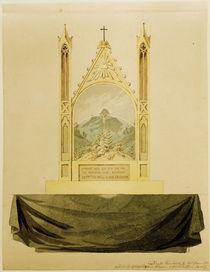 C.D.Friedrich, Kreuz vor Regenbogen von AKG  Images