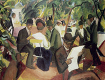 August Macke, Gartenrestaurant von AKG  Images