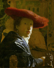 Vermeer, Maedchen mit rotem Hut by AKG  Images