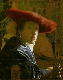 Vermeer, Maedchen mit rotem Hut von AKG  Images