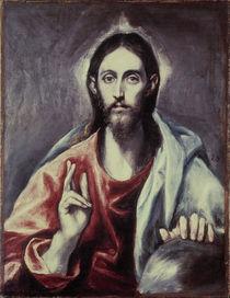 El Greco/ Salvator Mundi/ um 1600 von AKG  Images