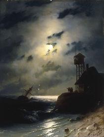 I.K.Aiwasowski, Mond ueber dem Meer by AKG  Images